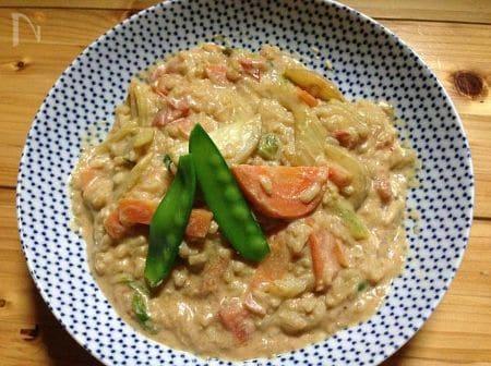 豆乳トマト玄米リゾット