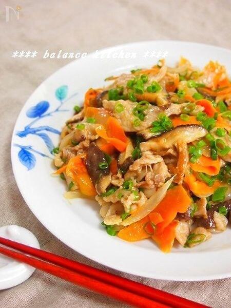 豚肉とシイタケのガーリックオイマヨ炒め