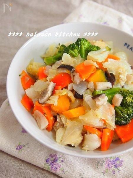 冷蔵庫のお掃除に!色々野菜の塩麹蒸し