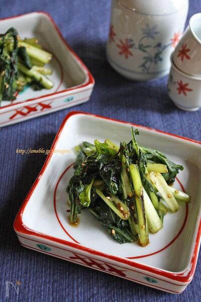 シャキシャキ小松菜の塩昆布漬け
