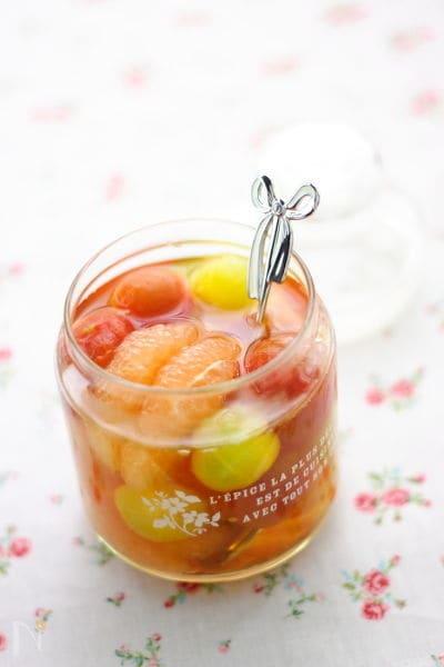 グレープフルーツ&ミニトマトのシロップ漬け
