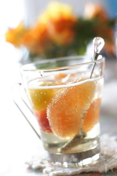 シュワシュワグレープフルーツ&トマトジュース