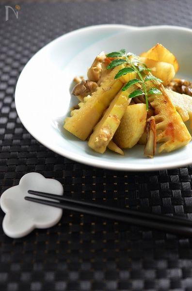 筍と長芋・舞茸の香り炒め