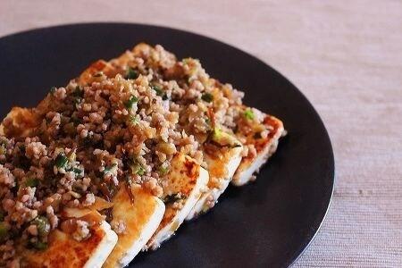 高菜そぼろ豆腐