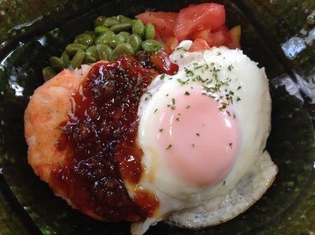 鮭ハンバーグのロコモコ丼~南蛮ソース~