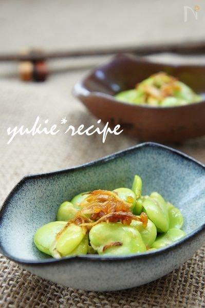 そら豆の醤油糀炒め~生姜風味~
