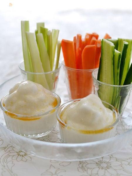 ふわふわ白だしディップ&野菜スティック