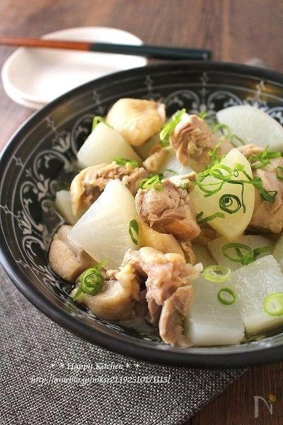 柔らか鶏肉とほくほく塩大根@生姜風味