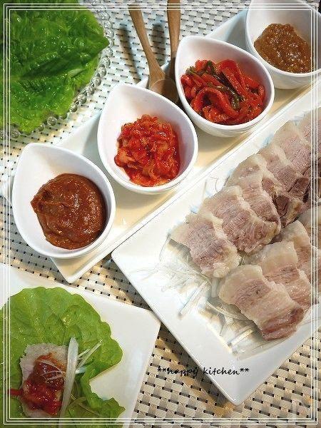 蒸し豚と合わせ味噌の野菜包み