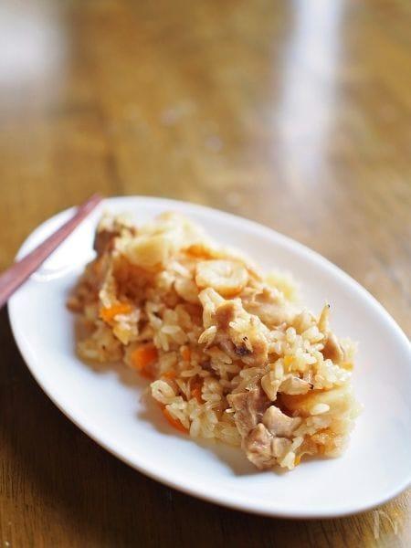 炊飯器で簡単★チープな食材のおこわ