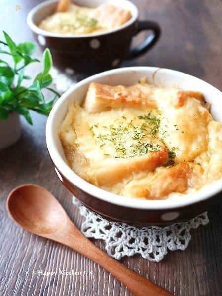 飴色玉ねぎも超簡単!オニオングラタンスープ