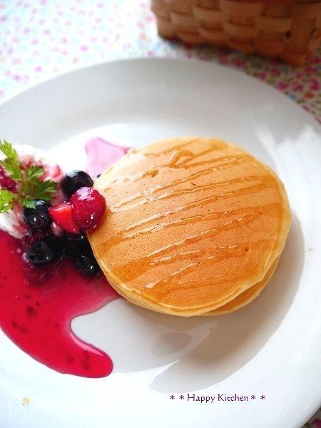 ヨーグルトパンケーキ【焼きムラなく綺麗に焼くコツ】