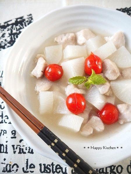 つるんともっちり鶏むね肉と大根の簡単あっさり煮