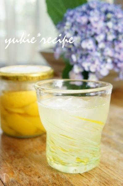 塩レモンとはちみつのスカッシュ