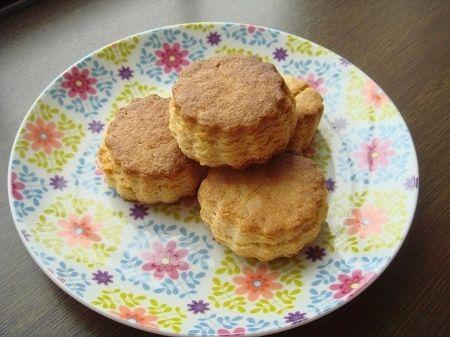 我が家の朝食スコーン。