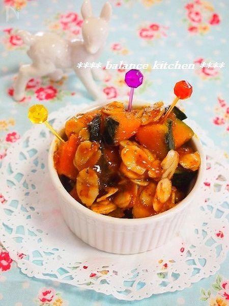【栄養満点スイーツ】キャラメルアーモンドパンプキン
