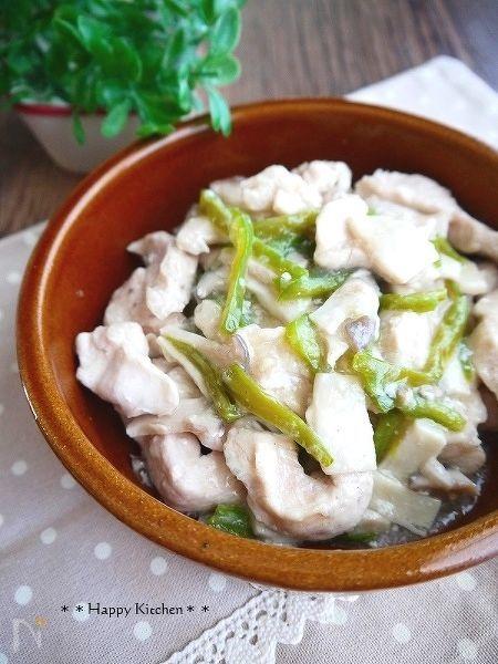レンジで簡単!もちもち鶏むね肉とエリンギの中華蒸し