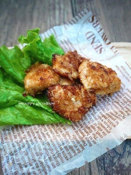 お弁当に!しっかり味付き鶏むね肉のオーロラソースパン粉焼き