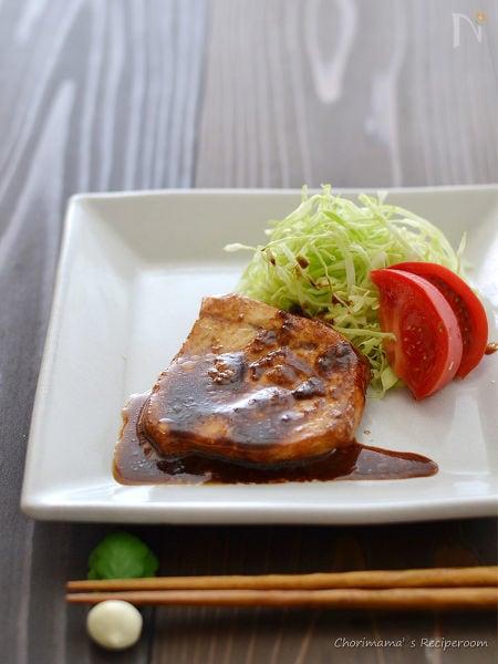 メカジキの黒酢照り焼き
