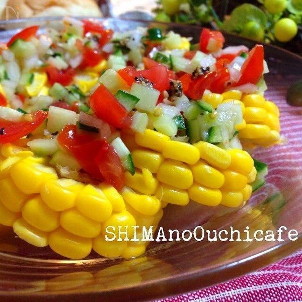 ゴールドラッシュ トウモロコシのカルパッチョサラダ