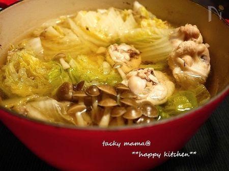 野菜たっぷりで温まる♪白菜の塩にんにく鍋