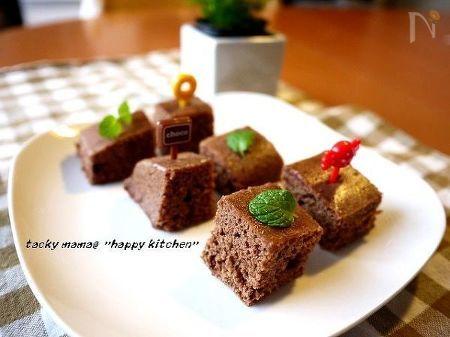 ルクエで♪ホットケーキミックス使用のしっとりチョコ蒸しパン