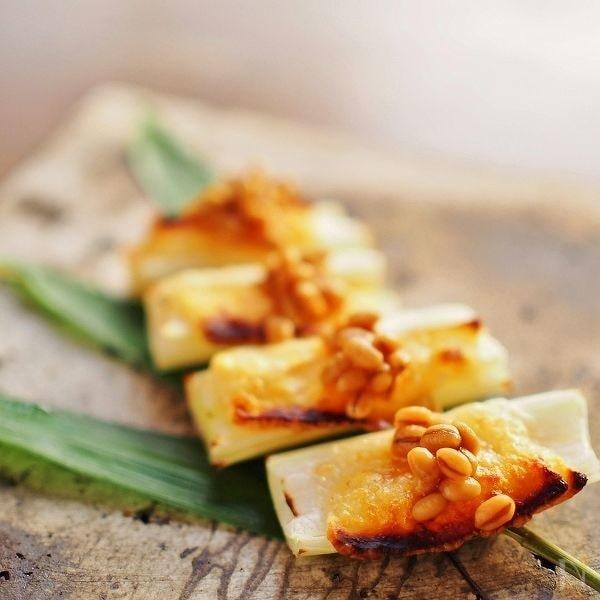 葱パルミジャーノ・チーズ焼き★醤油麦麹かけ