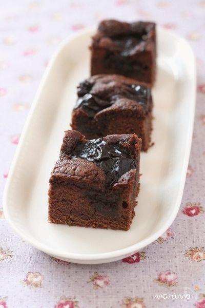 ダークチェリーのしっとりチョコケーキ