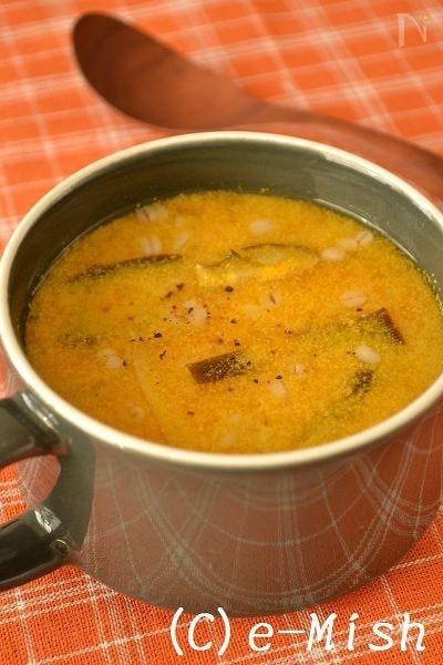乾物おだしのかぼちゃの豆乳ポタージュ