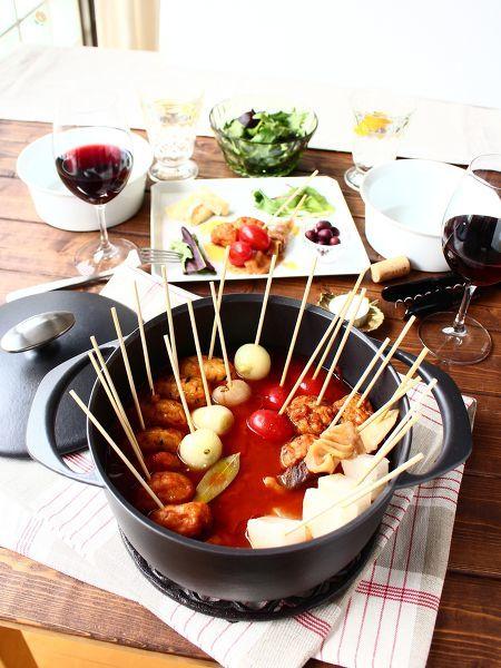 赤味噌トマトおでん ~ ピンチョス仕立て
