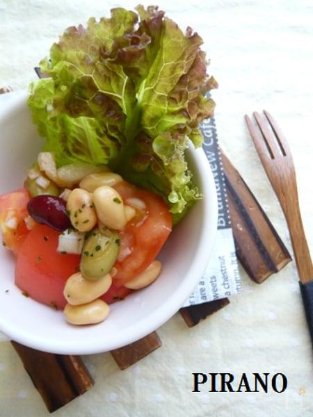 【40kcal】簡単♪トマトのメキシカンサラダ♪