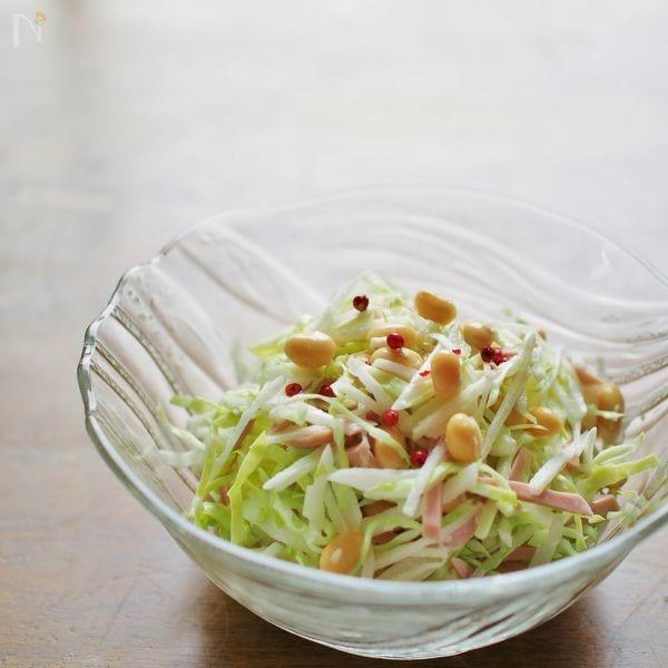 大豆入りコールスローサラダ