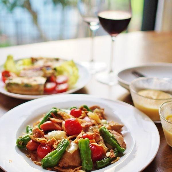 チキンと夏野菜のソテー