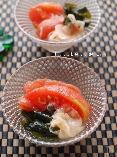 2. トマトのとわかめのハニーマリネサラダ