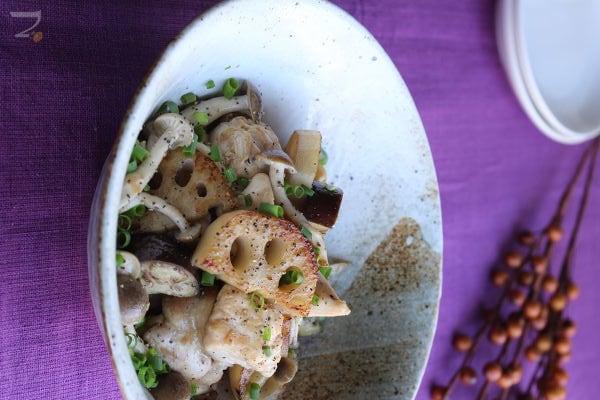 鶏と秋野菜のナンプラー蒸し炒め