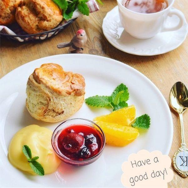 フープロで簡単!本格手作りスコーンでほっこり~な朝食セット