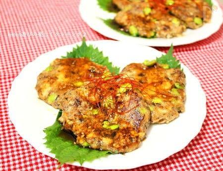 サバ缶豆腐ハンバーグ