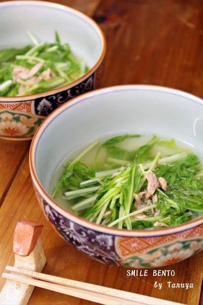 水菜とシーチキンのサッと煮