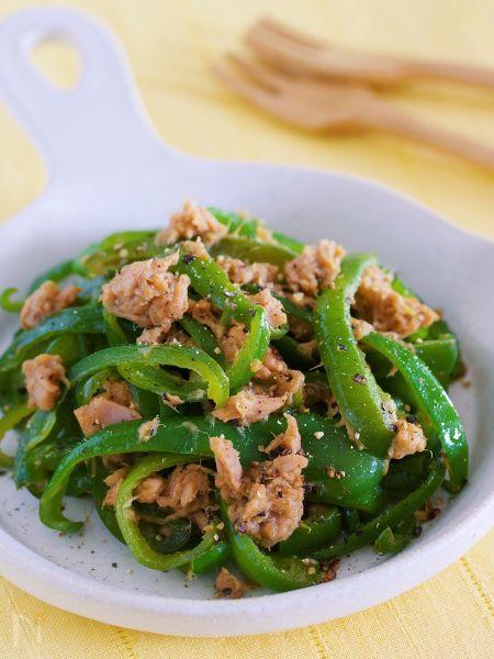 わが家の無限レシピ♪『ピーマンとツナのうまだれ中華炒め』