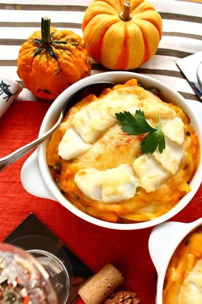 笹かまぼこととかぼちゃの秋色ドリア