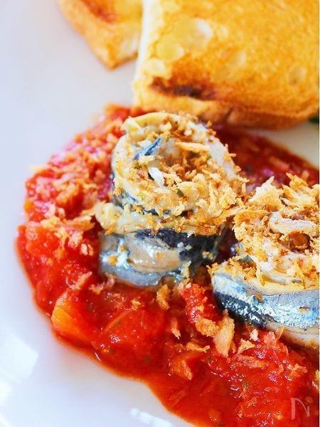 簡単!サンマのハーブ焼き トマトソース