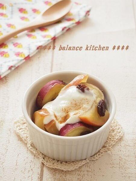 美腸デザート。りんごとさつまいものヨーグルトデザート