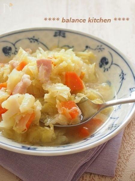 圧力鍋で1分!あま~い食べる野菜スープ コンソメ不要