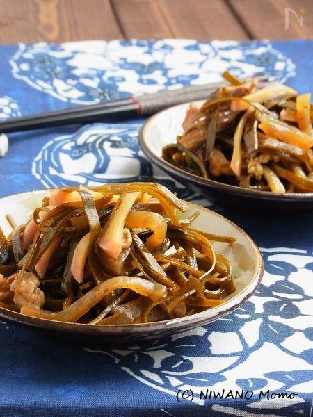 ご飯がすすむ沖縄料理 * クーブイリチー(昆布の炒め煮)
