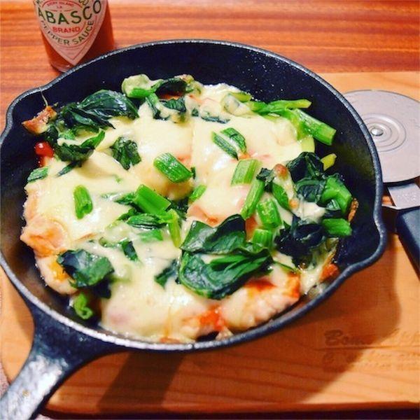 鶏胸肉のピザ風☆パパッと簡単減量おつまみ