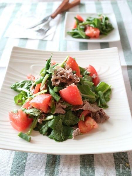 ルッコラと牛肉のマスタードサラダ