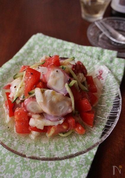 2 タコとトマトのイタリアンサラダ