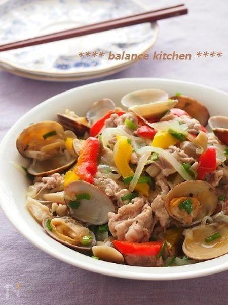 【作り置き可能】豚肉とあさりのネギ塩マリネ