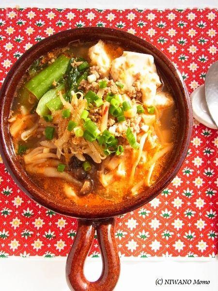 ピリ辛ごまの豆腐チゲ鍋