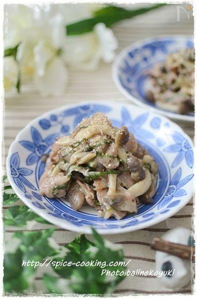 豚肉のしそ梅味噌焼き